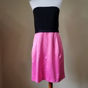 BCBG MaxAzria Cocktail Dress Size 8 Pink Black